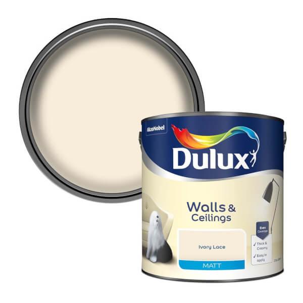 Dulux Ivory Lace - Matt Emulsion Paint - 2.5L