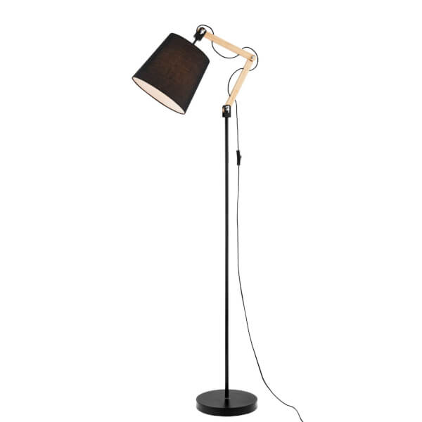 Caleb Floor Lamp - Black