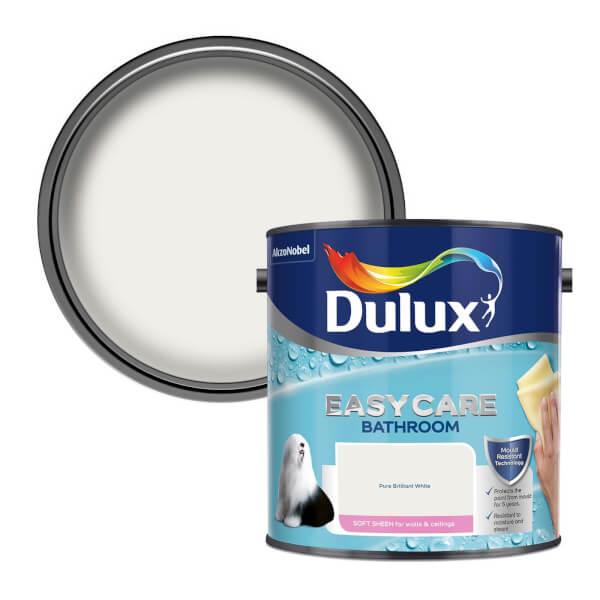 Dulux Easycare Bathroom Pure Brilliant White - Soft Sheen Paint - 2.5L