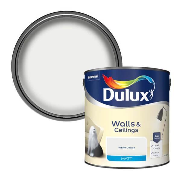 Dulux White Cotton - Matt Emulsion Paint - 2.5L