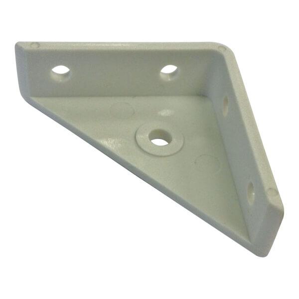 Corner Flange White 50mm Pk 4
