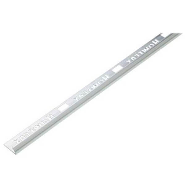 Homelux 9mm Round Edge Tile Trim - Silver Effect - 1.83m