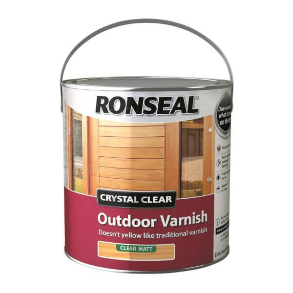 Ronseal Crystal Clear Outdoor Varnish Matt - 2.5L