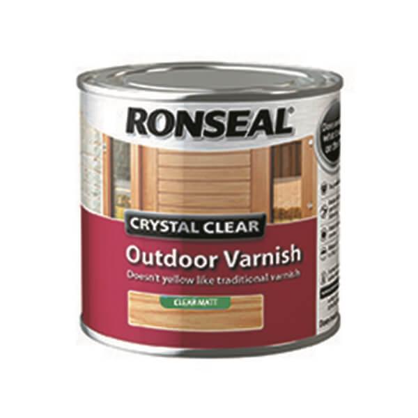 Ronseal Crystal Clear Outdoor Varnish Matt - 250ml
