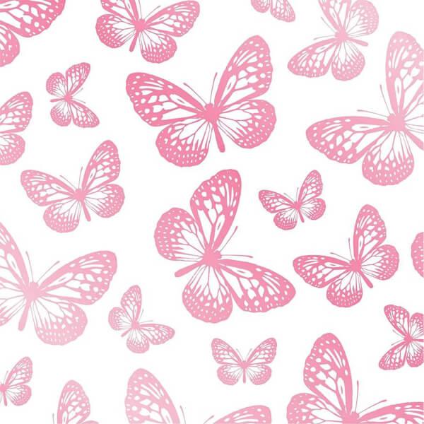Fresco Butterflies Wallpaper