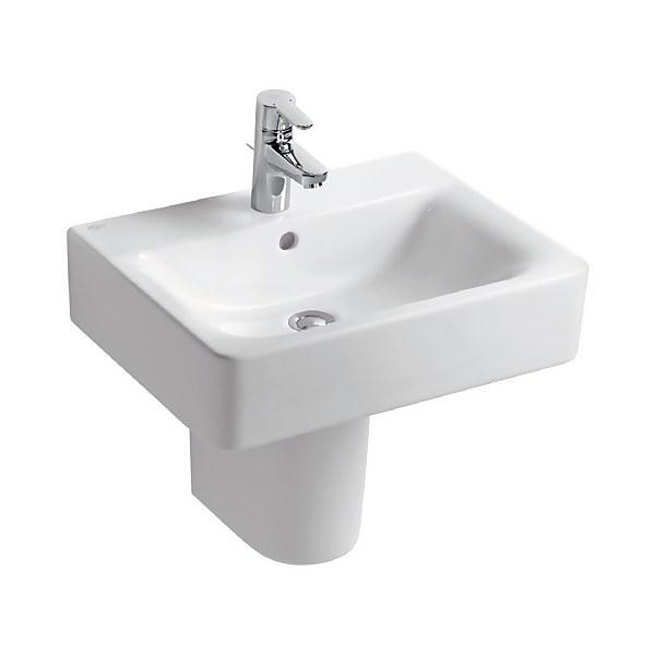 Ideal Standard Senses Cube Semi-Pedestal Basin - 55cm