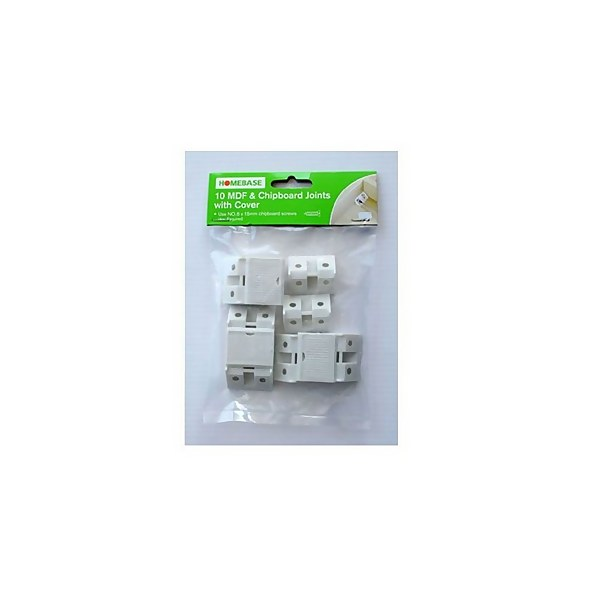 MDF and Chipboard Joints With Covers - 10 Pack