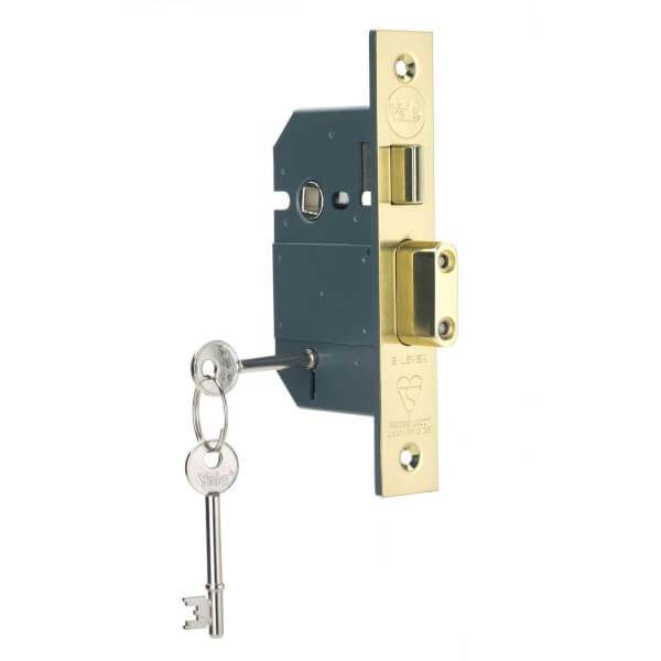 Yale PM560 British Standard BS3621 5 Lever 64mm - Brass