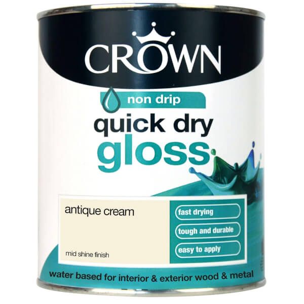 Crown Quick Drying Gloss - Antique Cream - 750ml