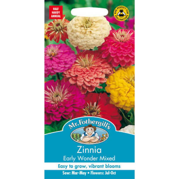 Zinnia Early Wonder Mixed Seeds
