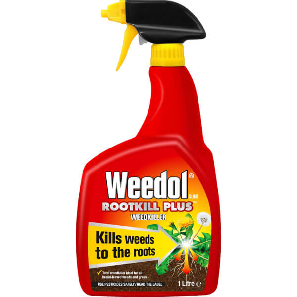 Weedol Gun! Rootkill Plus Ready To Use Weedkiller - 1L