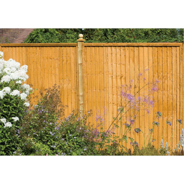 Forest Larchlap Closeboard 1.8m Fence Panel - Pack of 4