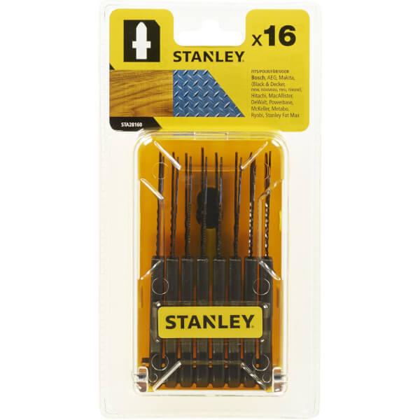 Stanley 16 Pc Jigsaw Blade Set - STA28160-XJ