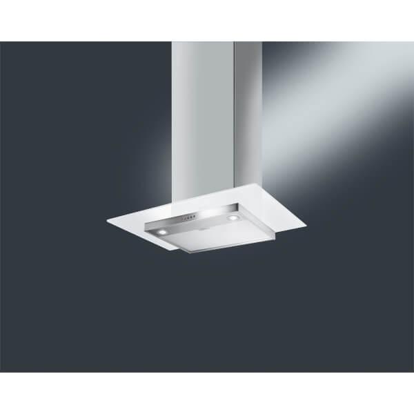 Smeg KFV62DBE 60cm White Glass Chimney Hood - Stainless Steel