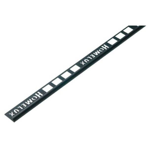 Homelux 9mm Round Edge PVC Tile Trim - Black - 1.83m