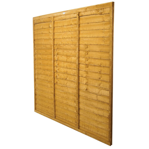 Forest Larchlap Lap 1.5m Fence Panel - Pack of 5