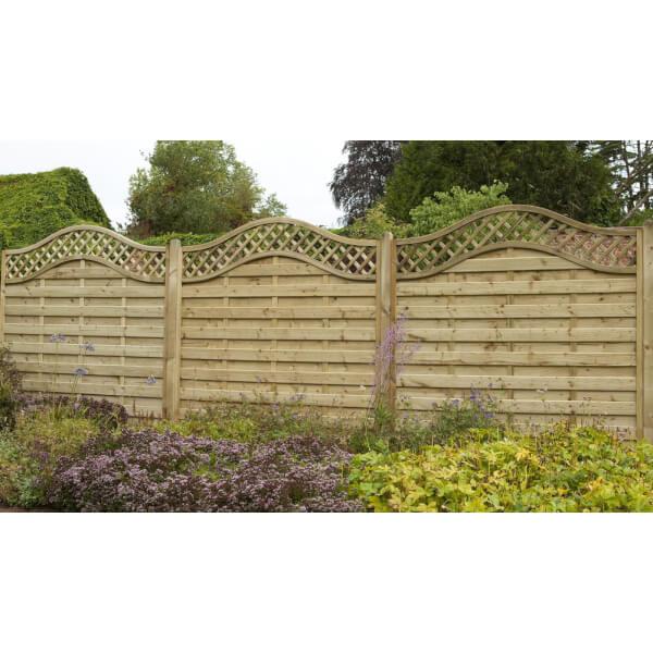Forest Prague Fence Panel - 6ft - Pack of 3