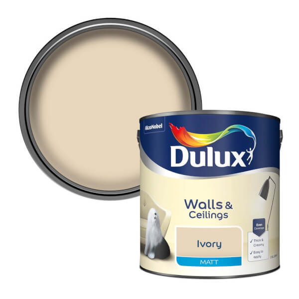 Dulux Ivory - Matt Emulsion Paint - 2.5L