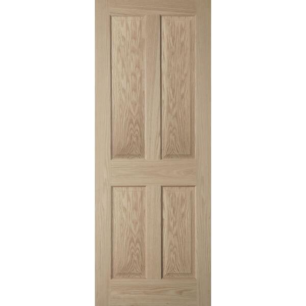 4 Panel Oak Veneer Internal Fire Door - 826mm Wide