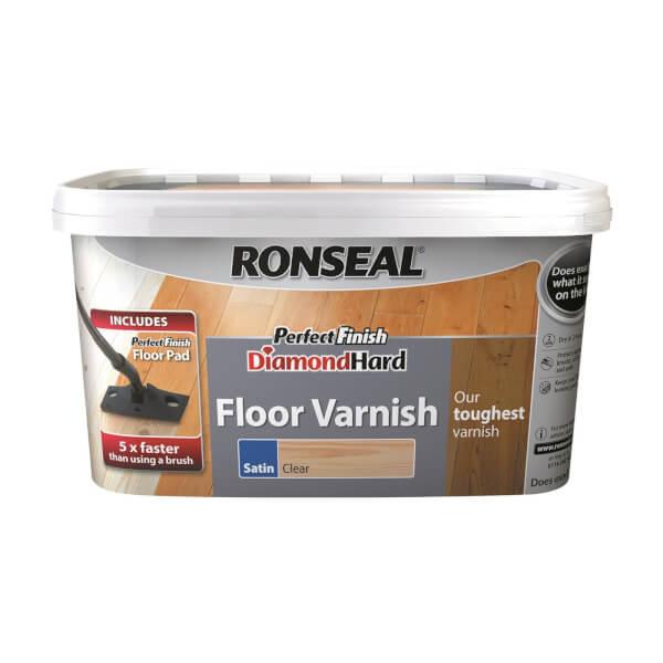 Ronseal Perfect Finish Diamond Hard Floor Varnish Satin