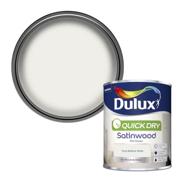 Dulux Pure Brilliant White - Quick Dry Satinwood - 750ml