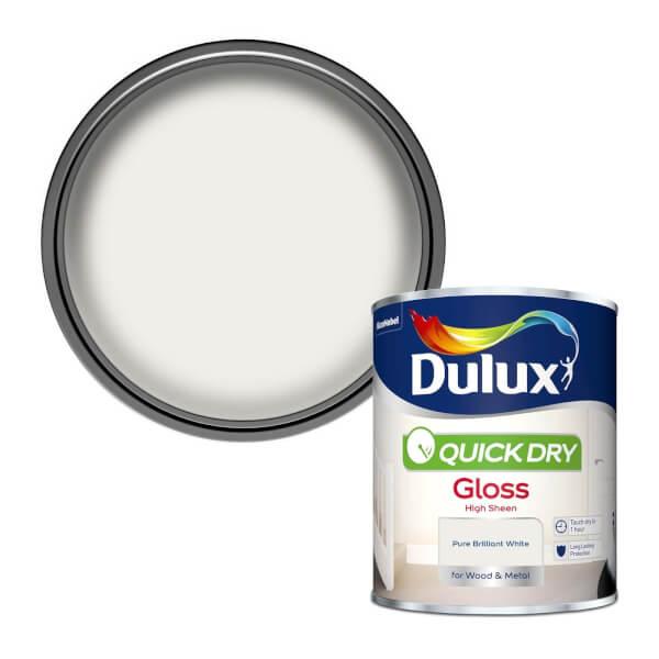 Dulux Pure Brilliant White - Quick Dry Gloss - 750ml