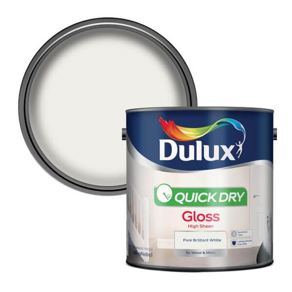 Dulux Pure Brilliant White - Quick Dry Gloss - 2.5L