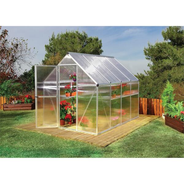 Palram Mythos Silver Greenhouse - 6 x 8ft
