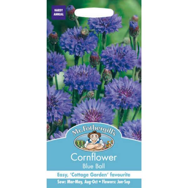 Mr. Fothergill's Cornflower Blue Ball Seeds
