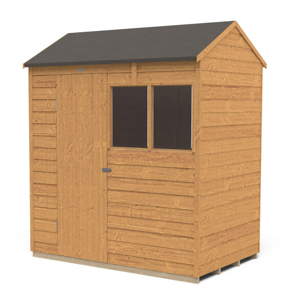 6x4ft Forest Overlap Dip Treated Reverse Apex Shed