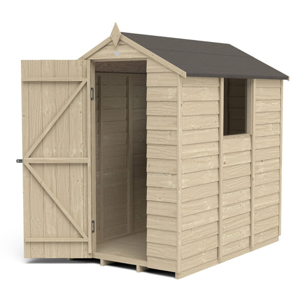 6x4ft Forest Overlap Pressure Treated Apex Shed