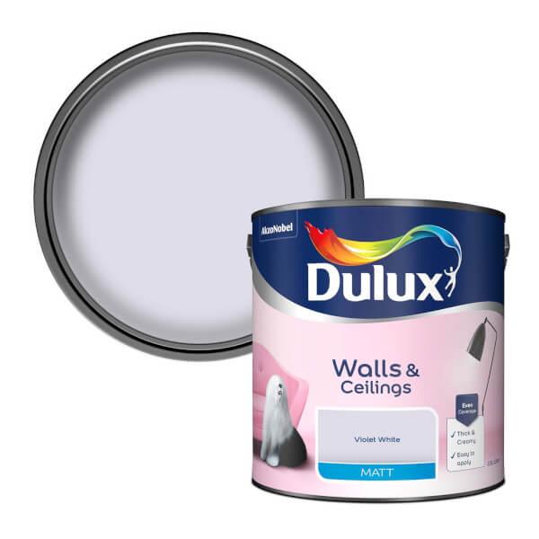 Dulux Violet White - Matt Emulsion Paint - 2.5L
