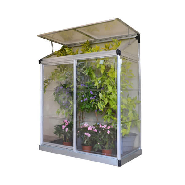 Palram Lean To Silver Grow House - 4 x 2ft