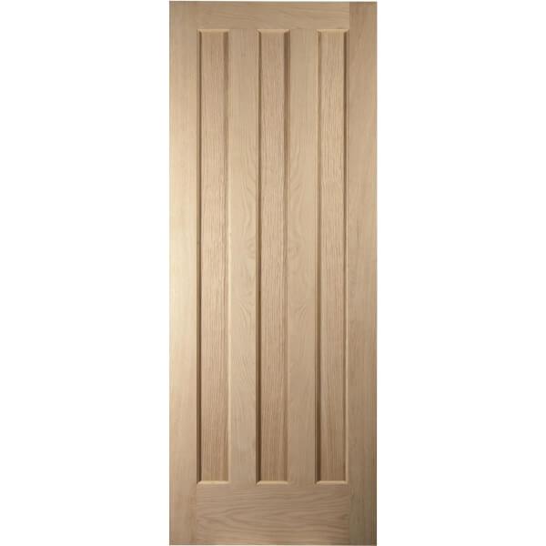 Aston 3 Panel White Oak Veneer Internal Door - 686mm Wide