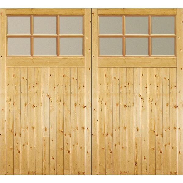 Timber Glazed Garage Door