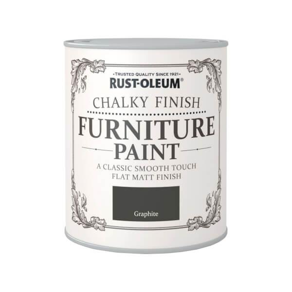 Rust-Oleum Chalky Furniture Paint - Graphite - 750ml