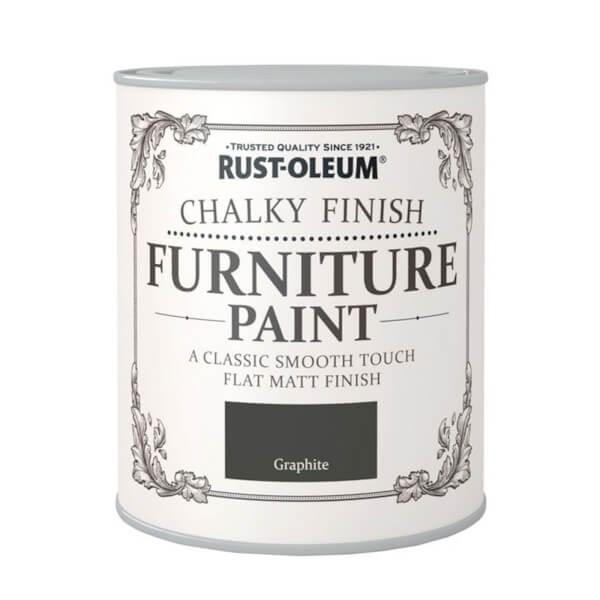 Rust-Oleum Chalky Furniture Paint - Graphite - 125ml