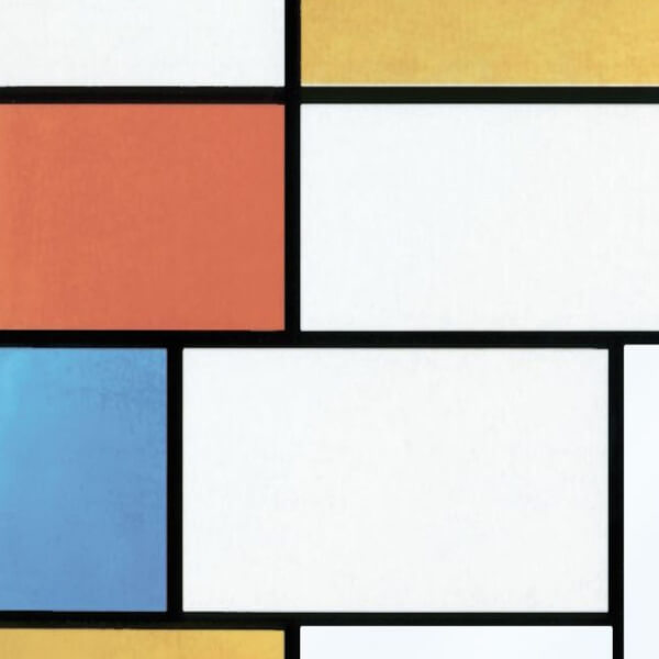 Fablon Sticky Back Plastic - Mondrian - 675mm x 2m