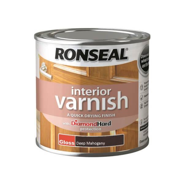 Ronseal Interior Varnish Gloss Deep Mahogany - 250ml