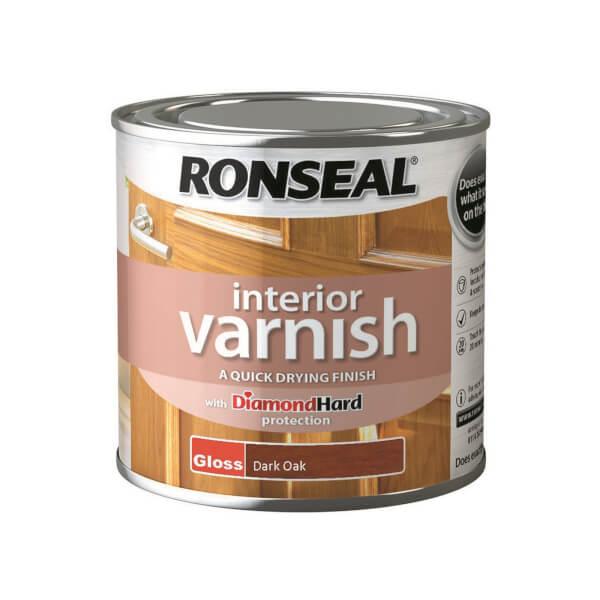 Ronseal Interior Varnish Gloss Dark Oak - 250ml