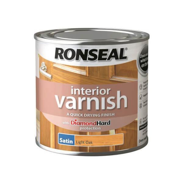 Ronseal Interior Varnish Satin Light Oak - 250ml