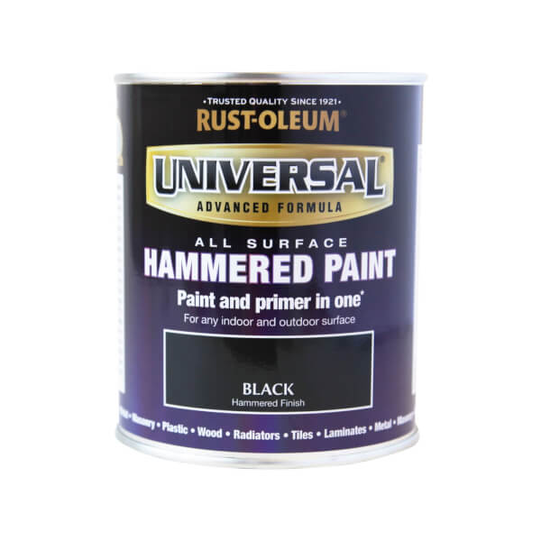 Rust-Oleum Universal All Surface Paint Hammered Black 750ml