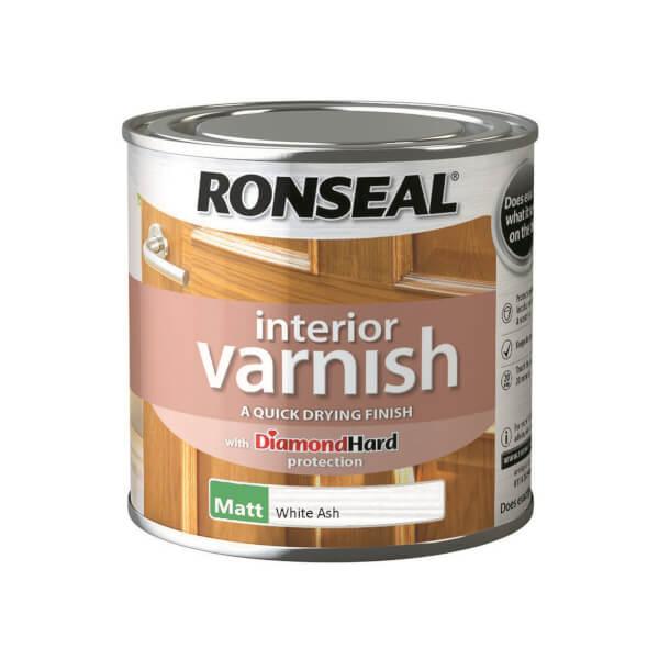 Ronseal Interior Varnish Matt White Ash - 250ml