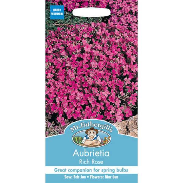 Mr. Fothergill's Aubrietia Rich Rose Seeds