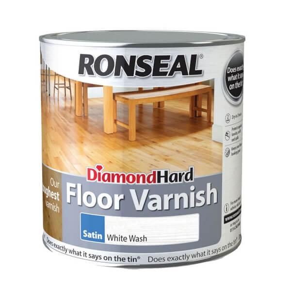 Ronseal Diamond Hard Floor Varnish White Ash - 2.5L