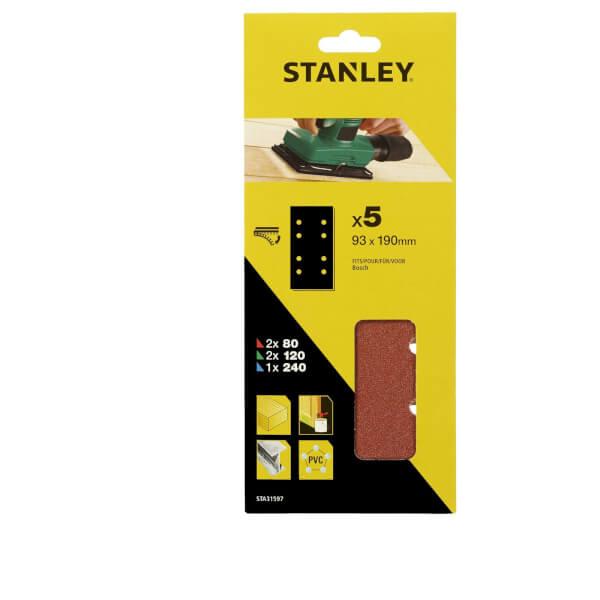 Stanley 1/3 Sheet Sander Mixed Hook & Loop Sanding Sheets - STA31597-XJ