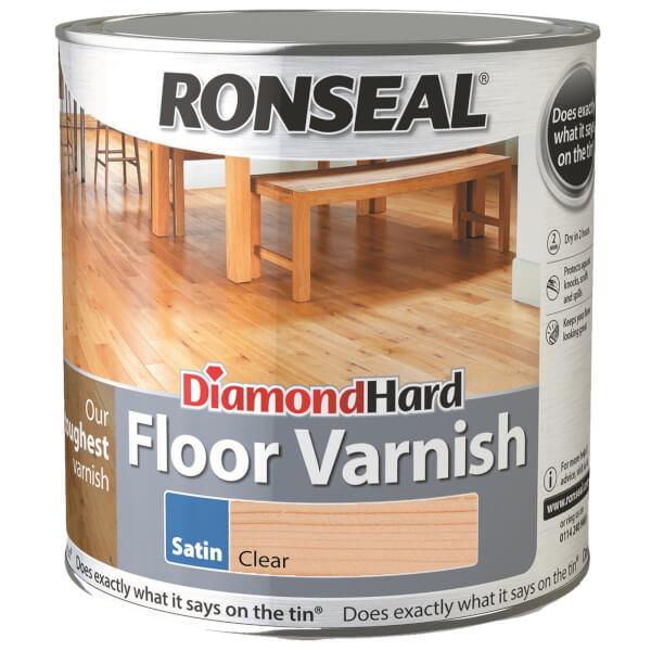 Ronseal Diamond Hard Floor Varnish Satin Clear- 2.5L