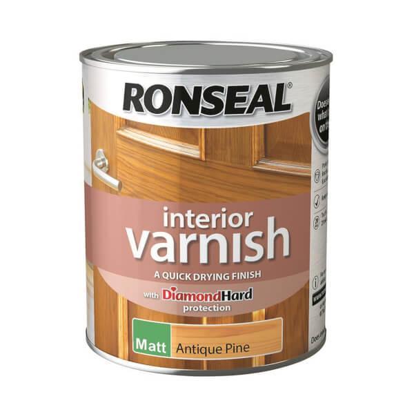 Ronseal Interior Varnish Matt Antique Pine - 750ml