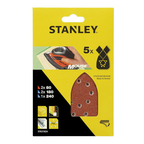 Stanley Mouse Sanding Sheets Mixed Pack - STA31024-XJ