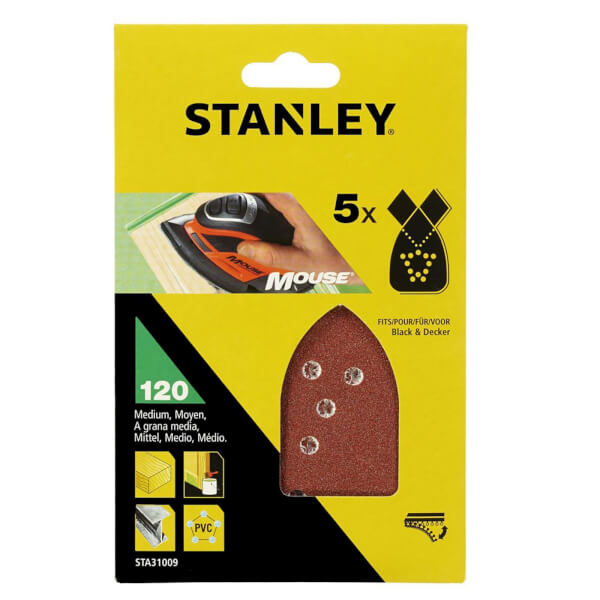 Stanley Mouse Sanding Sheets 120G - STA31009-XJ